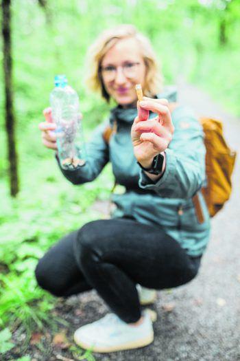 Natürlich ist WANN & WO auch selbst dabei: Hier sammelt Redakteurin Anja.Foto: Sams