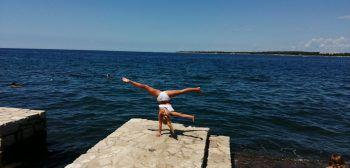 "<p class=""caption"">Raphaela (12) aus Nüziders im Urlaub in Kroatien.</p>"