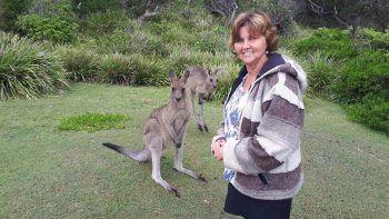 Sieglinde und ihre tierischen Freunde in Australien.