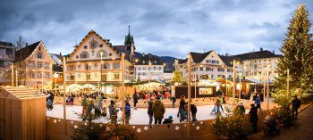 Ab dem 22. November erstrahlt die Dornbirner Innenstadt wieder in weihnachtlichem Glanz: Der Christkindlemarkt ist ein Highlight für Groß und Klein.Fotos: Rhomberg; handout/Dornbirn Tourismus