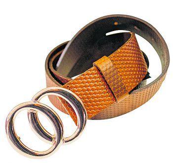 """<p class=""""caption"""">Brauner Gürtel mit auffälliger Schnalle, bei Vero Moda erhältlich um 26,99 Euro.</p>"""