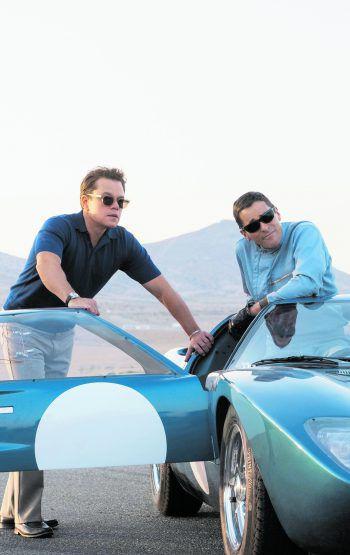 """<p class=""""caption"""">Carroll Shelby (Matt Damon) und Testpilot Ken Miles (Christian Bale).</p>"""