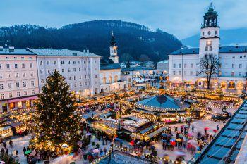 Der Christkindlmarkt in Salzburg versprüht Vorfreude auf Weihnachten.