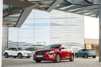 Die neuen Hyundai-Modelle, Ioniq Plug-In-Hybrid, Ioniq Hybrid und Ioniq Elektro punkten mit einzigartiger und umweltfreundlicher Technik. Foto: handout/Hyundai, Scalet