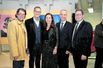 Harald Gfader, Christian Bernhard, Angelika und Alfred Geismayr und Markus Klement.