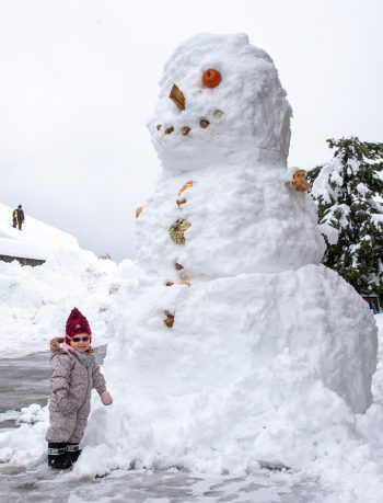 """<p>Kärnten. Winterlich: Dass die Schneemassen nicht nur für Chaos sondern auch für """"Riesen""""-Spaß sorgt, zeigt dieses Bild.</p>"""