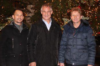 Robert S. Salant mit Bgm. Markus Linhart und Bgm. Bernhard Kleber.