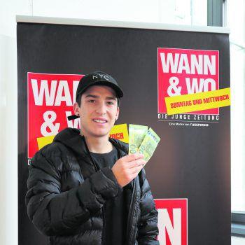 Über 200 Euro mehr in der Tasche kann sich Thimon aus Rankweil freuen. Er hat beim WANN & WOhngeld-Gewinnspiel mitgemacht und abgesahnt! Euch würde ein Wohnzuschuss gerade recht kommen? Dann mitspielen und mit etwas Glück gewinnen! Fotos: W&W