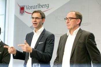 Wallner und Rauch stellten gestern ihr Koalitionsprogramm vor. Foto: APA