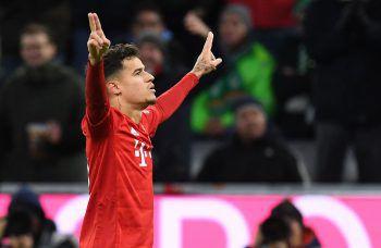 Bayerns Philippe Coutinho lieferte gestern gegen Bremen ein wahres Schützenfest. Foto: AFP
