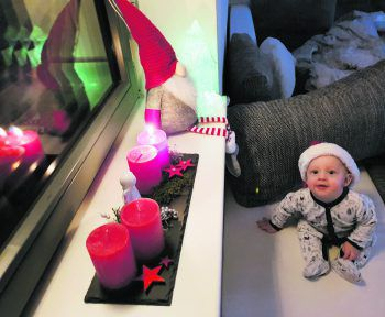 """<p class=""""caption"""">Da leuchten die Kinderaugen: Sam (7 Monate) aus Koblach.</p>"""