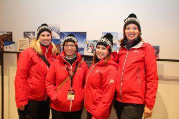 "<p class=""caption"">Daniela, Daniela, Hannah und Katrin vom Montafon Tourismus.</p>"