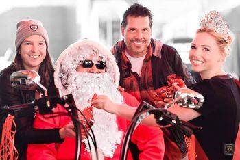 Der Nikolaus besucht Harley Davidson in Rankweil.Foto: handout/Thomas Rotheneder