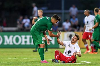 """<p class=""""caption"""">Derby zwischen Austria Lustenau und FC Dornbirn auf der Birkenwiese.</p>"""