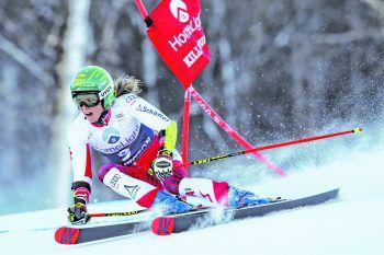 Fünf Hunderstel fehlten Katharina Liensberger gestern für den zweiten Durchgang. Heute hat die Technik-Spezialistin in ihrer Paradedisziplin Slalom die Chance, sich erneut zu beweisen.Fotos: AP