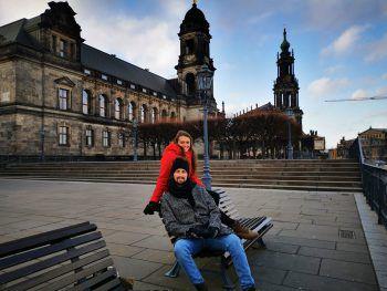 Gemütlich. Die W&W-#cityhopper auf der Brühlschen Terrasse.