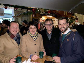 Harald Witwer, Monika Vonier, Christoph Thoma und Simon Tschann.