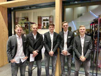 """<p class=""""caption"""">Junge Ländle-Fußballpower: Johannes Tartarotti, Leonardo Zottele, Leo Mätzler, Daniel Nußbaumer und Lars Nußbaumer.</p>"""