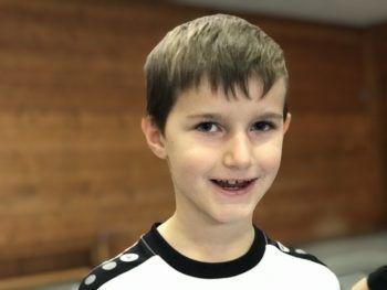 """<p>Leonnard, 7, 2b: """"Das Coolste beim Training war unser Match. Besonders toll war, dass mein Team gewonnen hat. Ich könnte mir vorstellen, mit dem Handball anzufangen.""""</p>"""