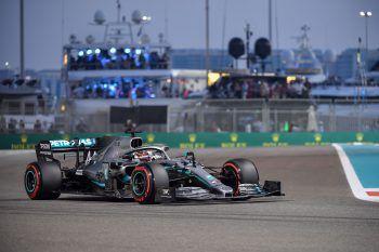 Lewis Hamilton sicherte sich die letzte Pole Position des Jahres in Abu Dhabi. Foto: AFP