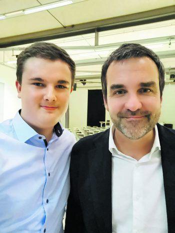 """<p class=""""caption"""">Lucas Ammann (l.) traf den """"Falter""""-Chefredakteur zum Interview. Foto: handout/privat</p>"""