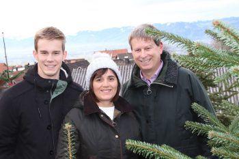 Lukas, Renate und Christian Kusche.