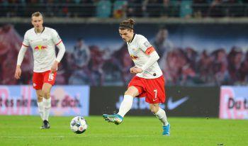 Marcel Sabitzer und RB Leipzig sichern sich den Herbstmeistertitel. Foto: GEPA