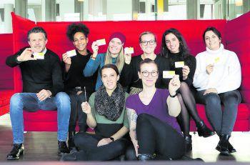 """Mitglieder des W&W-Teams ließen sich im Zuge der """"Lifesaver-Challenge"""" von """"Geben für Leben"""" für eine Knochenmark- und Stammzellenspende typisieren. Fotos: W&W"""