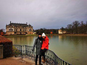 <p>Päuschen: Stefanie und Timo am Palaisteich in Dresden.</p>