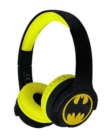 """<p class=""""caption"""">Perfekt für junge Comicliebhaber, der Batman Junior Bluetooth Kopfhörer von """"OTL Technolgies"""", erhältlich in schwarz-gelb mit klassischen Batmanlogo um 39,98 Euro.</p>"""