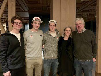 "<p class=""caption"">Sport-Familie Hämmerle mit Gino, Alessandro, Luca, Mama Caterina und Papa Hanno.</p>"