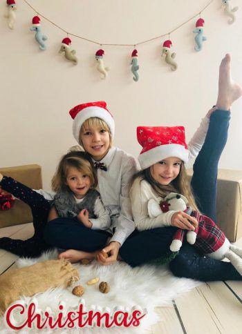 """<p class=""""caption"""">Theodor (8) mit seinen Schwestern Adriana (6) und Rita (2).</p>"""