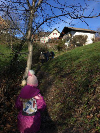 Unterwegs auf dem Rundweg zur Basilika Bildstein. Fotos: handout/SSOK