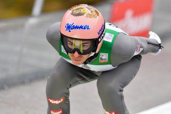 Volle Konzentration im Anlauf: Stefan Kraft verpasste gestern knapp den Sieg. Foto: GEPA/Lerch
