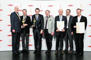Von links nach rechts: Dr. Michael Blass, Wolfgang Hammerl, Raimund Wachter, Präsident Josef Moosbrugger, Michael Schatzmann, Stefan Maierhofer, Thomas Knestel.