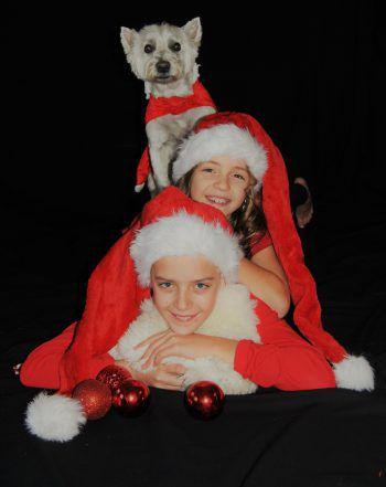 Weihnachtsshooting: Elias, Tabea und Sandy.