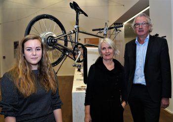 Anja Burtscher (Leiterin Design Forum), Beirätin und Architektin Martina Hämmerle und Beirat und VK-Präsident Edi Fischer.