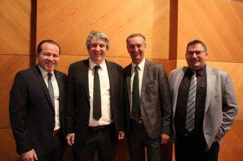 Die Blumenegg-Bürgermeister Harald Witwer, Michael Tinkhauser, Dieter Lauermann und Willi Müller.