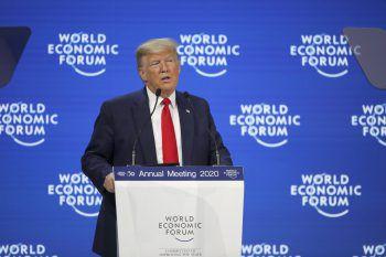 Donald Trump in Davos. Foto: AP
