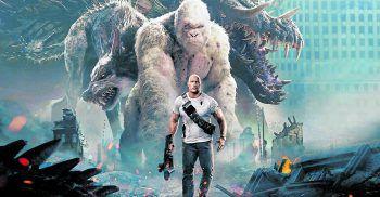 Rampage – Big Meets BiggerFilm, Netflix. Als ein Experiment schief geht, stiften Superkreaturen in Chicago Chaos. Wissenschaftler Davis bemüht sich um ein Gegenmittel, um den Affen zu retten, der einst sein Freund war. Mit Dwayne Johnson und Naomie Harris. Verfügbar ab morgen.