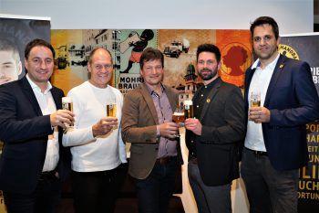 Thomas Pachole (GF Mohren), Trainer Markus Burger, Heinz Huber, Handball GF Björn Tyrner und Vorstand Handball Gregor Günter.