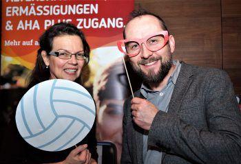 """<p class=""""caption"""">""""aha""""-Geschäftsführerin Monika Paterno und der Leiter für Zukunftsfragen, Michael Lederer.</p>"""