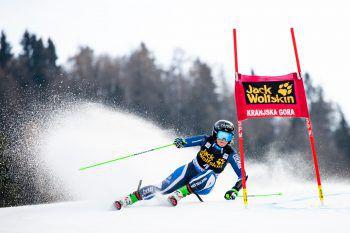 """<p class=""""caption"""">Alice Robinson ließ die Konkurrenz im gestrigen Riesentorlauf hinter sich. Fotos: GEPA</p>"""