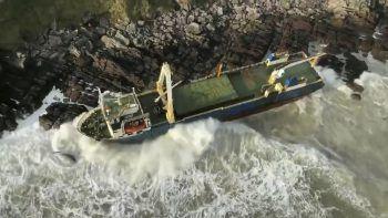 Das verlassene Schiff wurde von der Küstenwache fotografiert.Symbolfoto: Reuters
