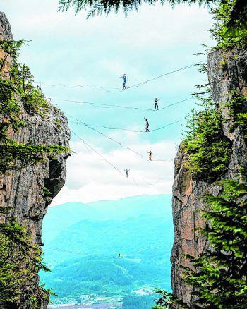 """<p class=""""caption"""">""""Der kleine Punkt unten bin ich"""", sagt Yannick über diese Foto aus Kanada.</p>"""