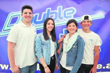 """""""Double Trouble"""" – die Geschwisterpaare Dominik, Anna-Lena, Angelika und Alex bilden ein musikalisches Quartett.Fotos: handout/Fleisch"""