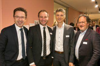 """<p class=""""caption"""">Gottfried Waidacher (Hypo), Alexander Juen (Rechtsanwalt), Roland Marte (Raiba Rankweil) und Walter Herbolzheimer (Hotel Hoher Freschen).</p>"""