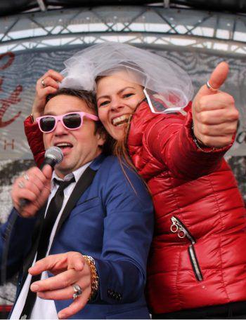 Junggesellinnen-Abschied von Monika Wilhelm im Duett mit Hanno Pinter.