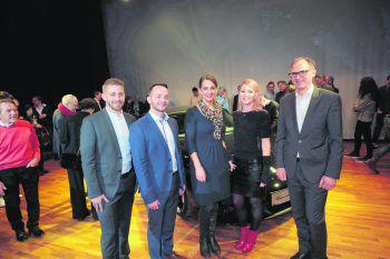 Kevin Senekowitsch, Dominik Fröhle, Simone Keppler, Patricia Lipburger-Rehm und Rudi Lins.