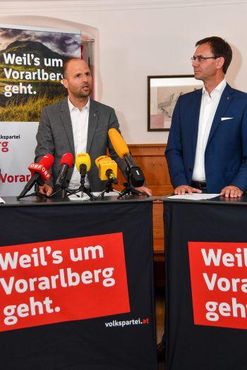 Landesrat Marco Tittler und Landeshauptmann Markus Wallner.Symbolfoto: Lerch